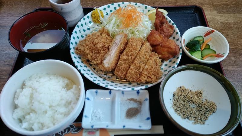 カツ亭の「チキン&唐揚げランチ」