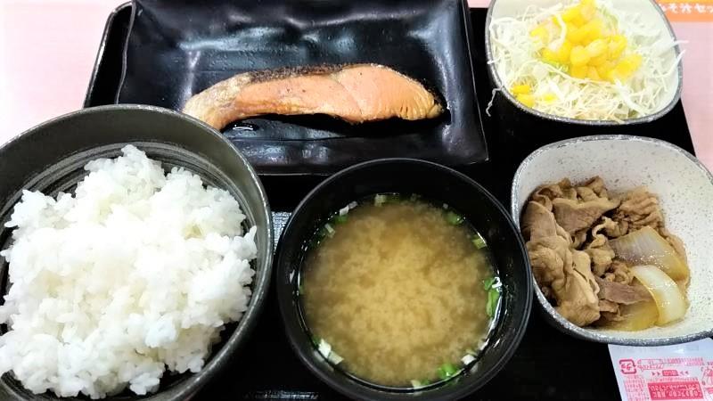 吉野家の一汁三菜朝善メニュー「焼魚牛小鉢定食」