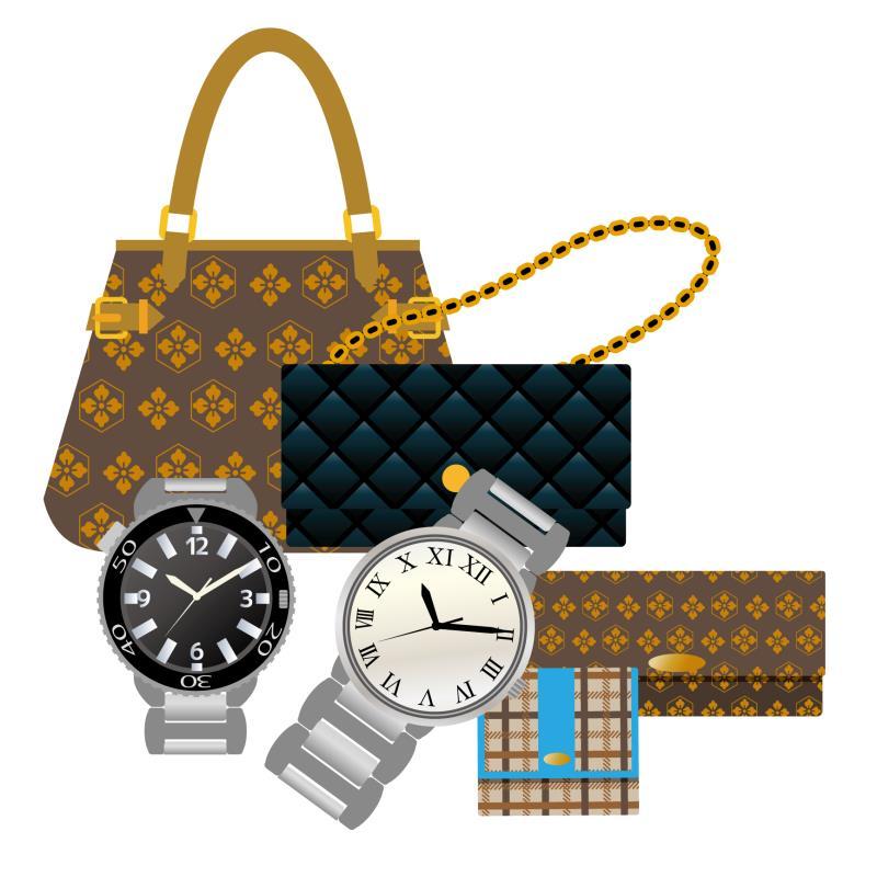 ブランド品(バッグや時計など)のイラスト