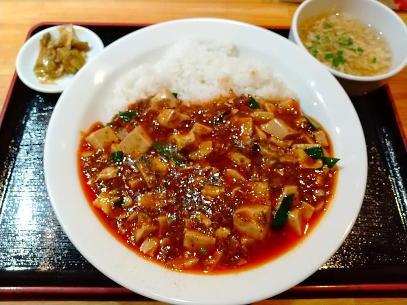 天心の麻婆豆腐丼