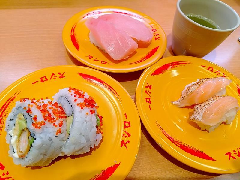 スシローで頂いたお寿司