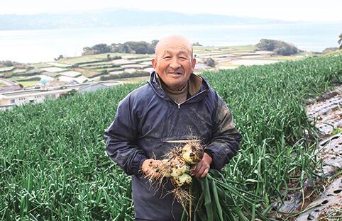 有機野菜を生産している農家さん