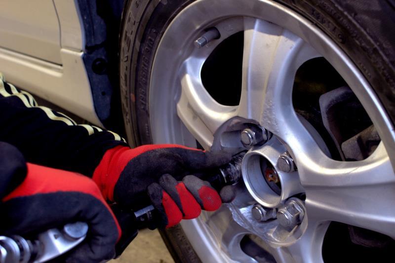 タイヤパンクの修理