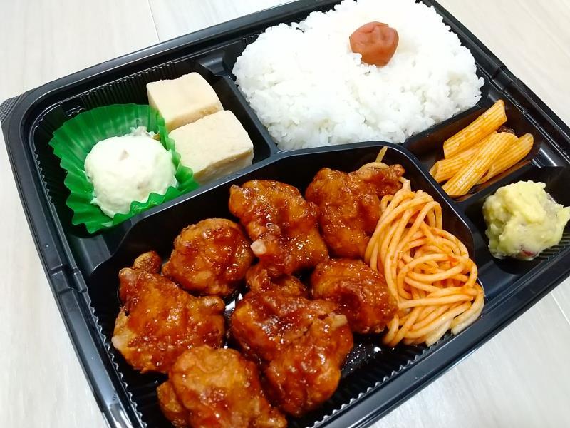 菜々家の「黒酢チキン弁当」