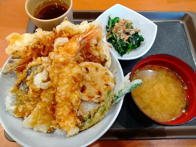 てんやの桜海老天丼