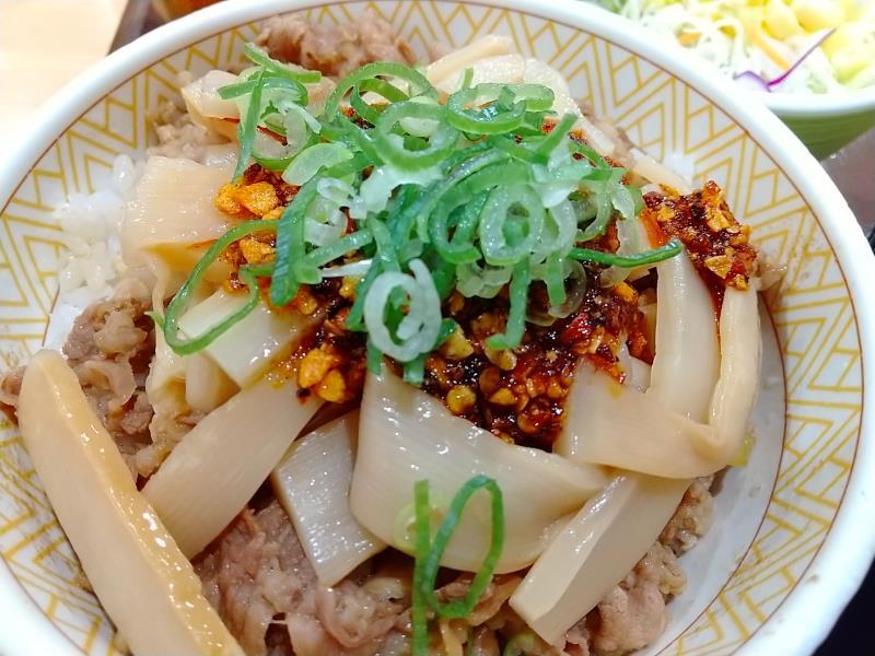 ボリュームが良い食べラー・メンマ牛丼